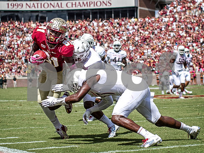 WR Kenny Shaw had yet another huge day hauling in 5 receptions for 96 yards and 1 TD. The Seminoles crushed the Maryland Terrapins 63-0 Saturday at Doak Campbell stadium.  The 'Noles will have a bye week next week and will spend the next two weeks preparing for the big showdown in Death Valley against the Clemson Tigers.