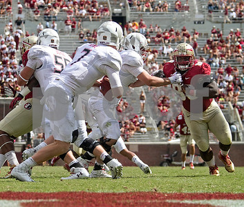 Nile Lawrence-Stample has his eye set on sacking Maryland QB Caleb Rowe.  The Florida State Seminoles crushed the 25th ranked Maryland Terrapins 63-0 Saturday at Doak Campbell stadium and will have a bye week before travelling to Clemson for a top 10 showdown with the #3 Tigers.