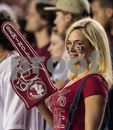 A Florida State fan proudly displays her loyalty to the team as #3 Florida State defeated the #7 ranked Miami Hurricanes 41-14 Saturday night in a top 10 ACC match-up of unbeaten teams.