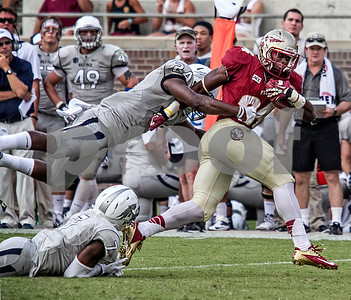 RB Ryan Green runs for 34 of his 78 yards on only 5 carries.  Green averaged 15.6 yards per carry.  The Seminoles defeated the University of Nevada Wolfpack 62-7 Saturday to improve to 2-0 on the season.