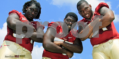 OL - Tre Jackson, Cam Erving, and Bobby Hart