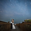Bride and groom kissing under the milkyway stars  | Hammock Beach Resort