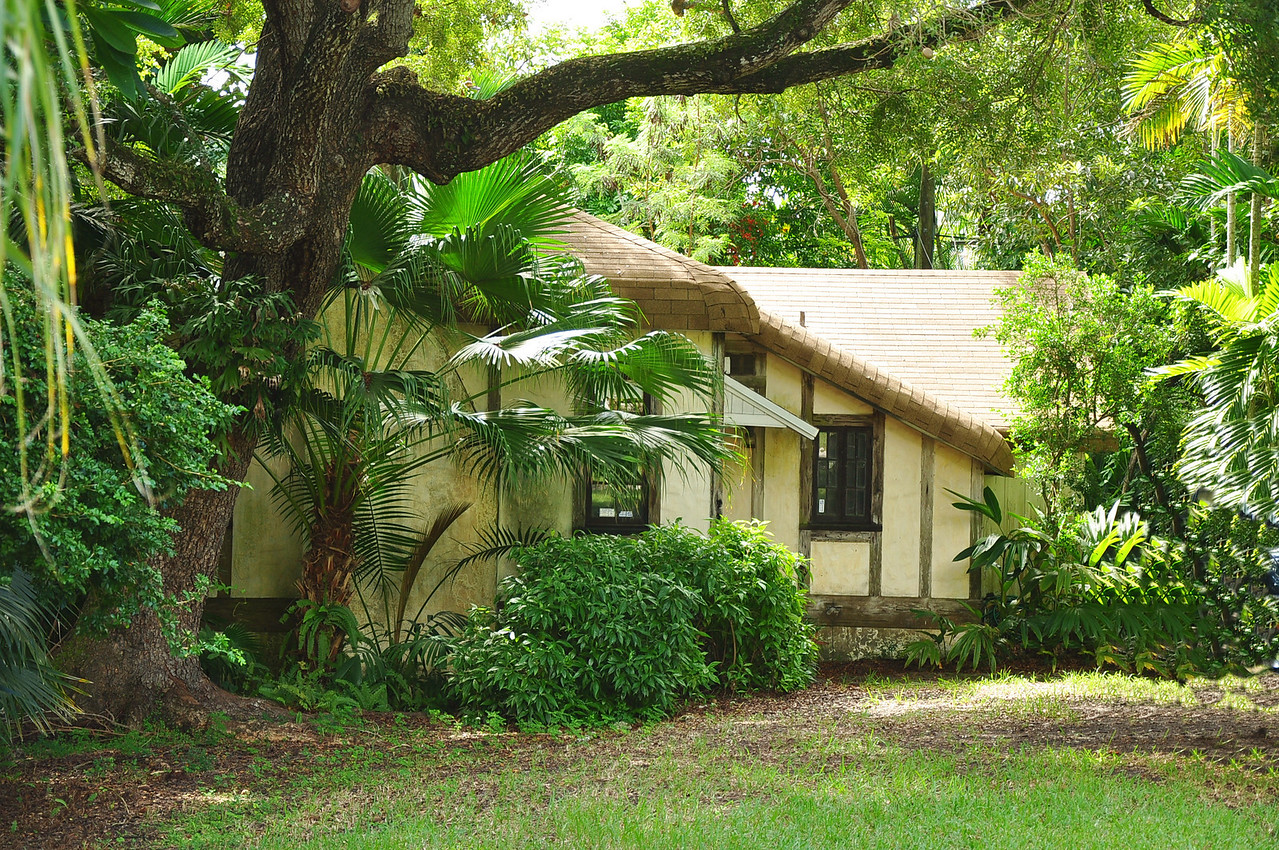 This is the home of Marjory Stoneman Douglas in Coconut Grove.  She was the author of several books including The River of Grass that was vital in the movement to saving the Everglades.