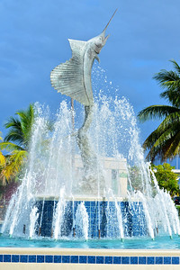 Sailfish water fountain