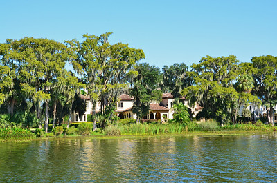 Winter Park is a historic Florida community now surrounded by Orlando that encompasses several small connecting lakes which can be viewed by a delightful pontoon boat ride.