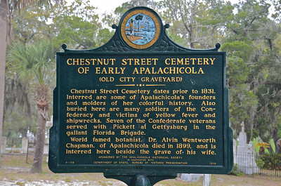 Historic Chestnut Street Cemetery just two blocks from downtown.