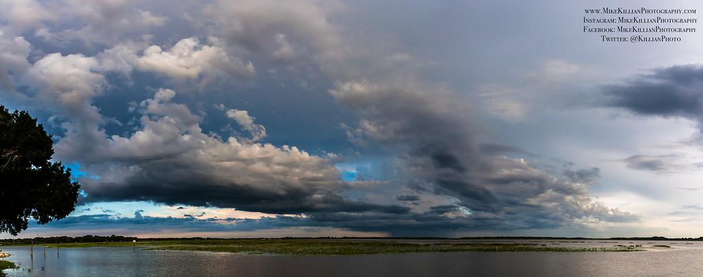 Storms Brewing South of Lake Toho, Kissimmee, Florida - Panorama