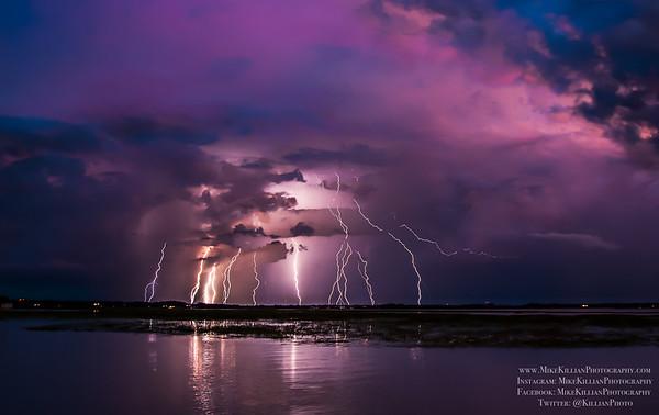 Sunset Storm Cell Erupting June 24, 2015 / Kissimmee, Florida
