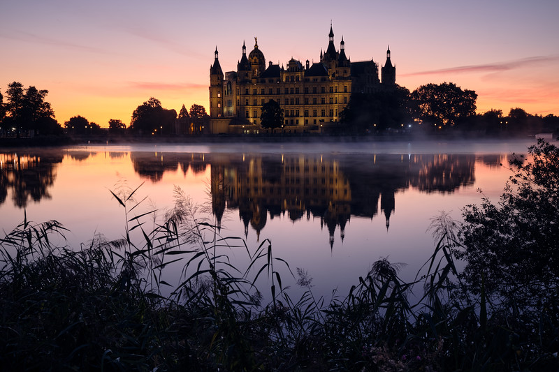 foggy mirror | schwerin, germany