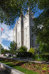 The Gardens of Temple Square and the Salt Lake LDS Temple, Salt Lake City, Utah