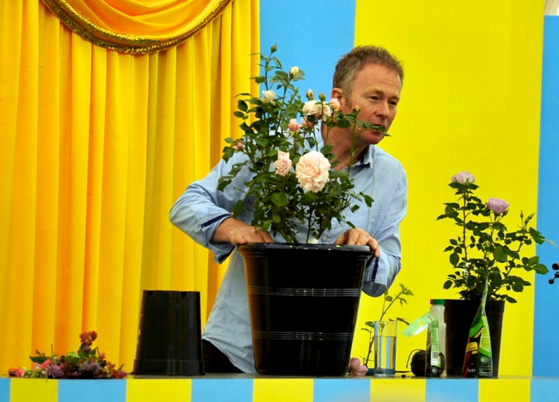 Toby Buckland at Hampton Court Flower Show - 2014