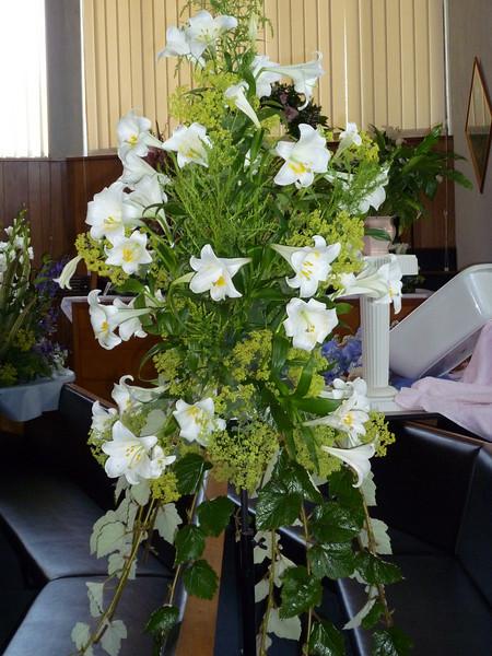 "Pedestal E.  ""Consider the lilies.... ""  (Luke 12: 27)  <br /> <br /> ....more resplendent than the finest clothing."