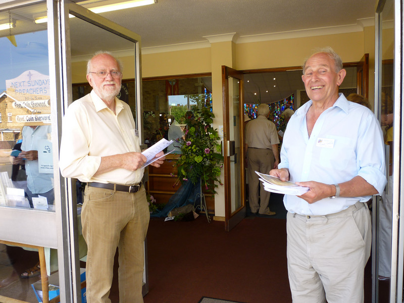Welcome to the Festival - two of our Festival door Stewards.