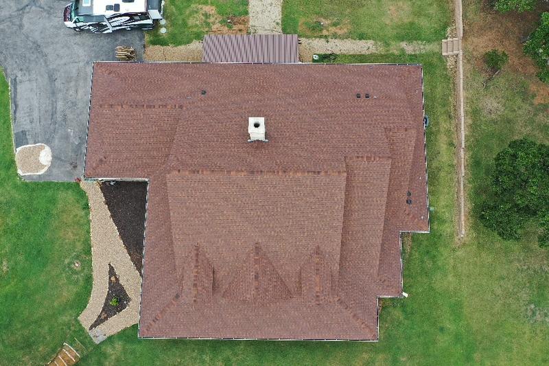 Flower Mound Dark Bronze Metal Roof
