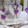 lavender wooden heart