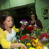 Sarah Meyer (left) and Emily Gryllakis, both of Tewksbury, picked a selection of flowers for the Billerica group to use for their bouquets. Photo by Mary Leach