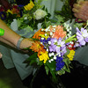 The bouquets were sprayed with a preservative to help them last longer. Photo by Mary Leach