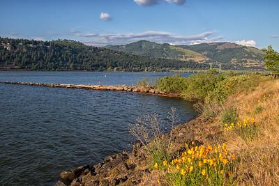 Hood River Waterfront Columbia River White Salmon Bridge Background 5-18-18