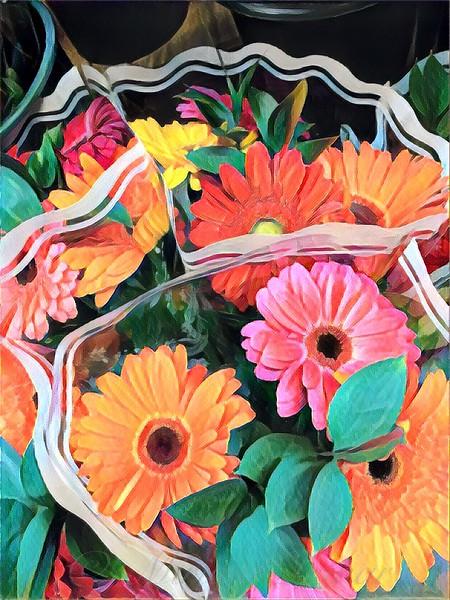 Happiness To Go - Colorful Daisy Bouquet