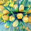 Tranquility of Spring - Yellow Tulips