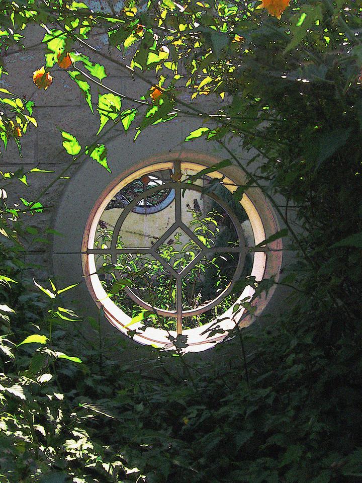 Circular portals at Kauffman Memorial Gardens