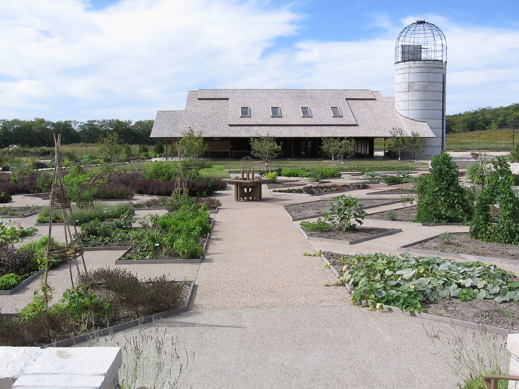 Part of the Harvest Garden buildings.
