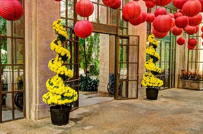 Guard plants a enterance