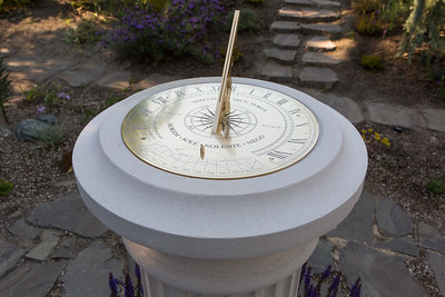Oregon Garden_Alliums and finished Sundial installation_05_26_2015