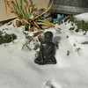 Cold Buddha in the snow.