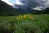Storm over Scarp ridge