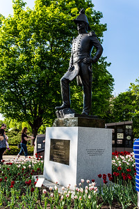 Lieutenant-Colonel John By Watches Over The Tulips