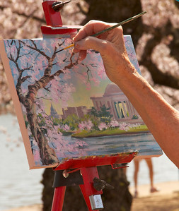 I loved watching this lady paint under the cherry trees.
