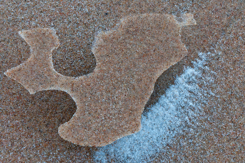 Frozen Sand Formations