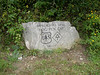 Stone marker on the top of Hogpen gap, Richard Russel Scenie highway, Helen - Brasstown, Georgia - At the AT trail - September 5, 2006