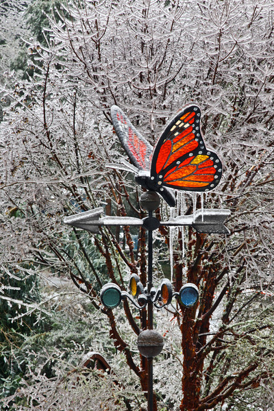 BRRR! STAINED GLASS WEATHER VANE