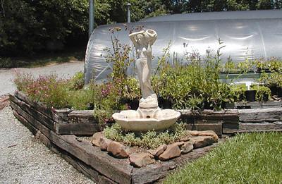 Display fountain Erin's Meadow Herb Farm Clinton, TN 6/20/07