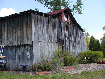 Corner shot of the quaint old barn Erin's Meadow Herb Farm Clinton, TN 6/20/07