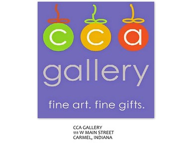CCA - Center for Creative Arts - is Indiana's oldest artist cooperative, over 35 years.  Located in the Carmel Arts and Design District at Suite 135 111 W Main St, Carmel, Indiana