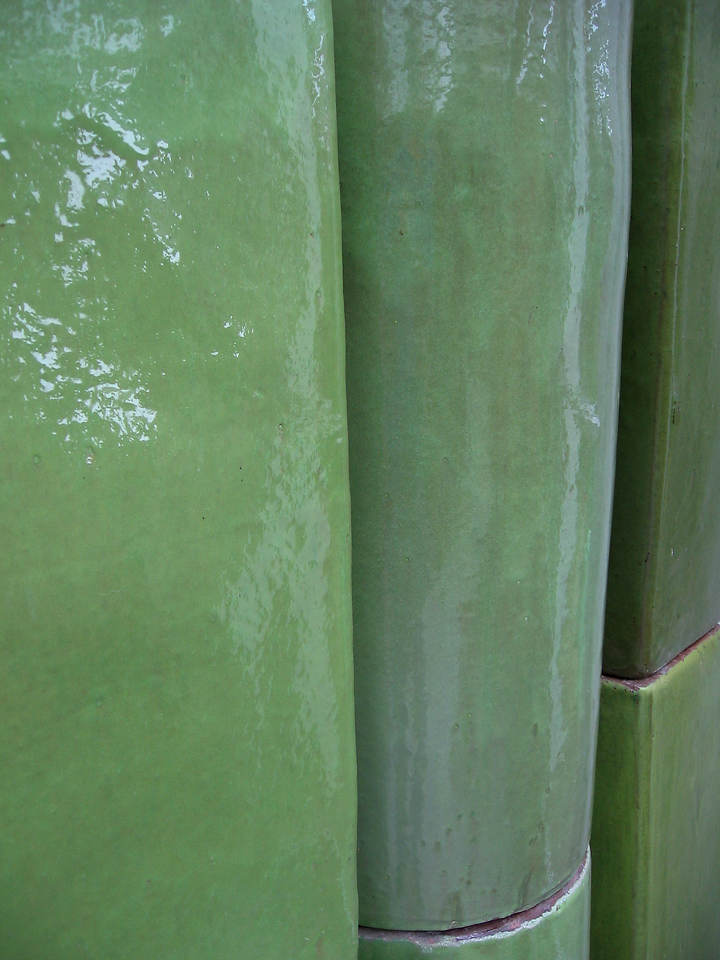 Very tall green planters for sale