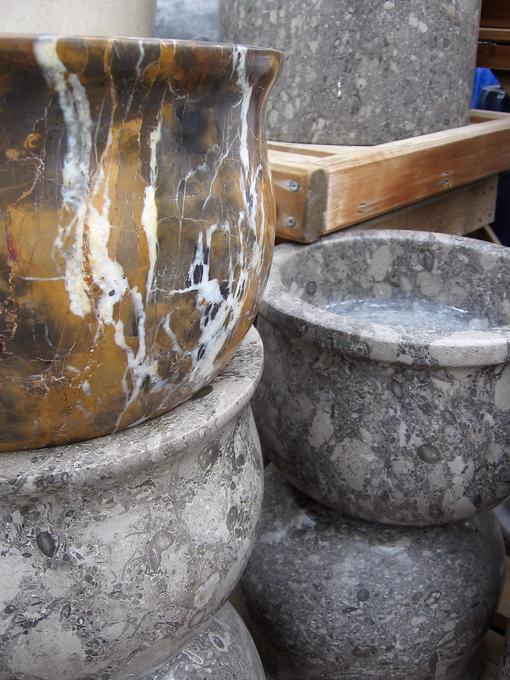 Expensive stone planters