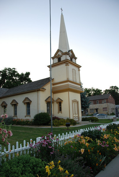 At Bellevue's Olde Towne Presbyterian Church, one of the first churches in the state. Zoomed all the way out.
