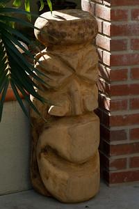 """20130401-IMG_3762 A Tiki acquired at Cantamar, just south of Rosarita Beach in Baja California.  His nickname is """"Jorge"""", named after his """"maker"""" George."""
