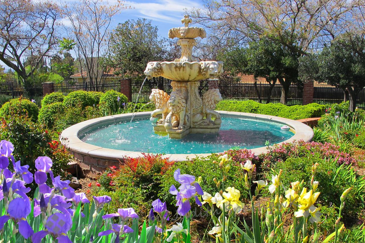 Fountain in the Garden ~ Edward Dean Museum gardens, Cherry Valley, CA.