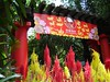 The entrance to the Singapore Zoo is attractively decorated for the Chinese New Year.