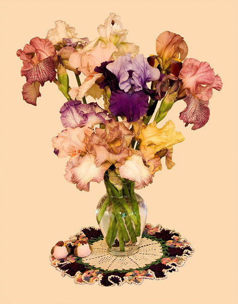 Iris Bouquet Cutout