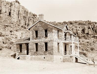 1009.304 Fort Davis Texas Antique Black and White