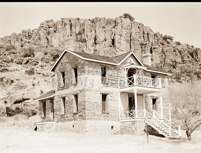 1009.311 Fort Davis Texas Antique Black and White