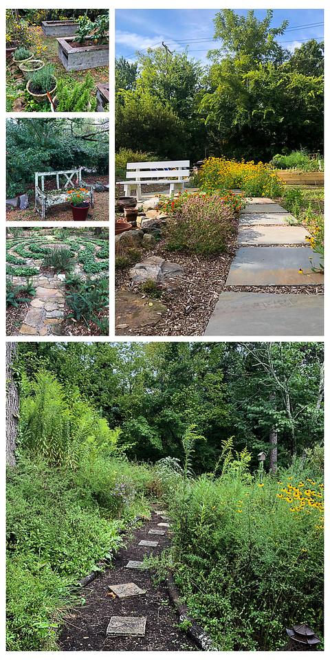 Gardening path collage