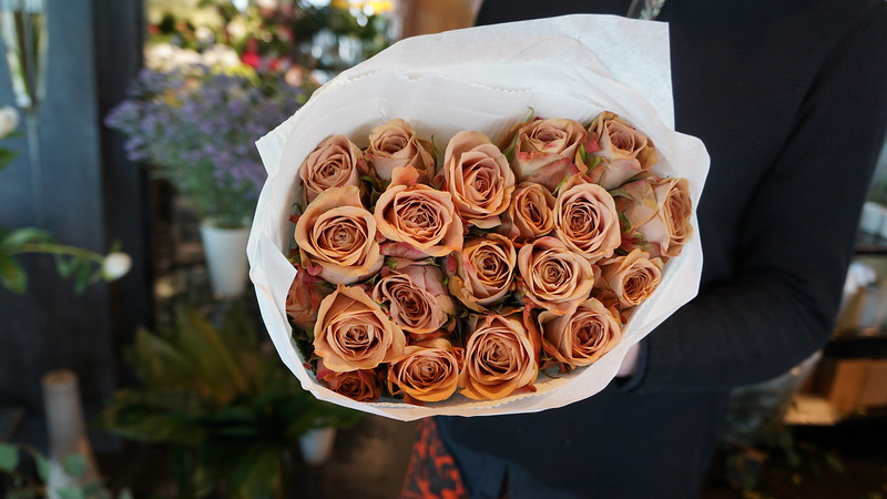 Bouguet of Peach Roses