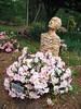 Rita Bigham's garden - statue of man